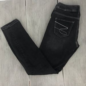 Seven7 jeans black skinny bling buttons size 4